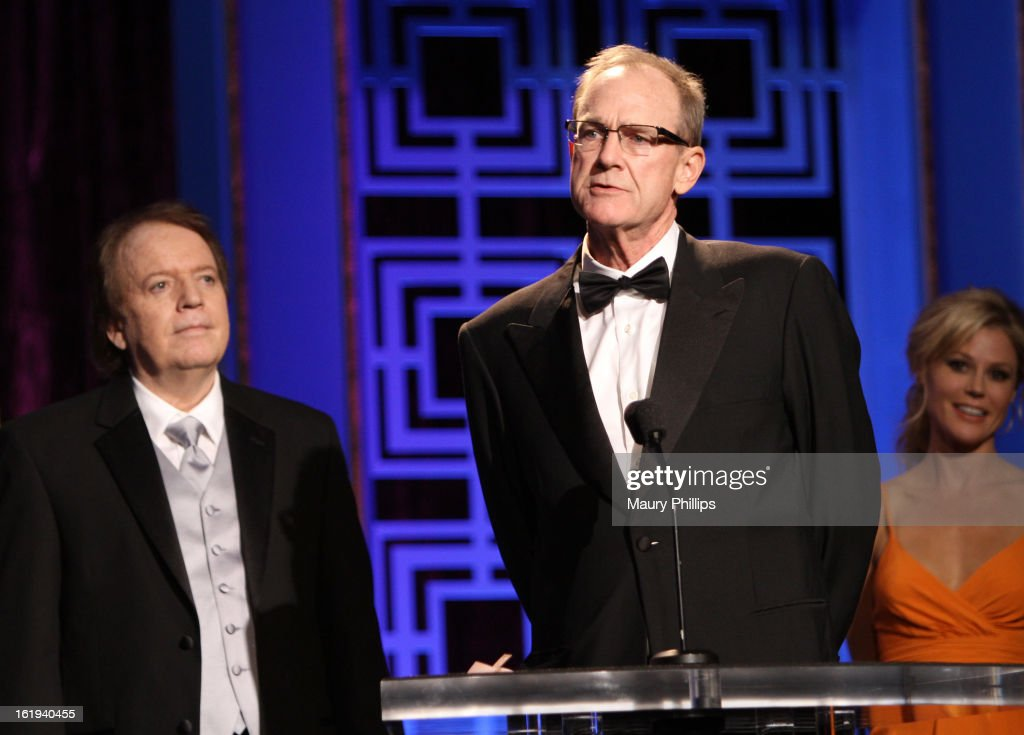 Writers Ronald Parker and Ted Mann accept the Writers Guild Award for Long Form - Original TV onstage during the 2013 WGAw Writers Guild Awards at JW Marriott Los Angeles at L.A. LIVE on February 17, 2013 in Los Angeles, California.