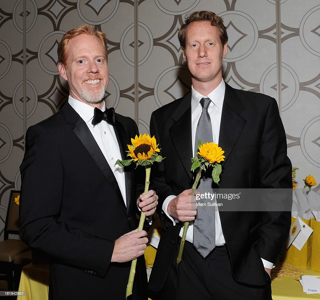 Writers Scott Moore (L) and Jon Lucas attend the 2013 Writers Guild Awards Backstage Creations Celebrity Retreat on February 17, 2013 in Los Angeles, California.