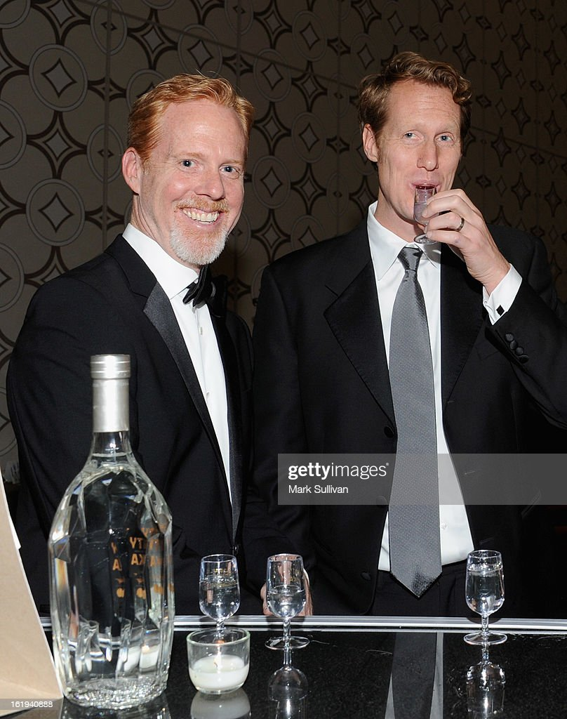 Writers Scott Moore (L) and Jon Lucas in the 2013 Writers Guild Awards Backstage Creations Celebrity Retreat on February 17, 2013 in Los Angeles, California.