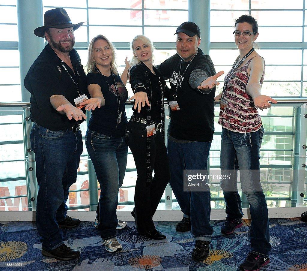Writers Steven L. Sears, Shaene Siders, Brandi Grace, Neo Edmund and Adira Edmund attend WonderCon Anaheim 2014 - Day 3 held at Anaheim Convention Center on April 20, 2014 in Anaheim, California.