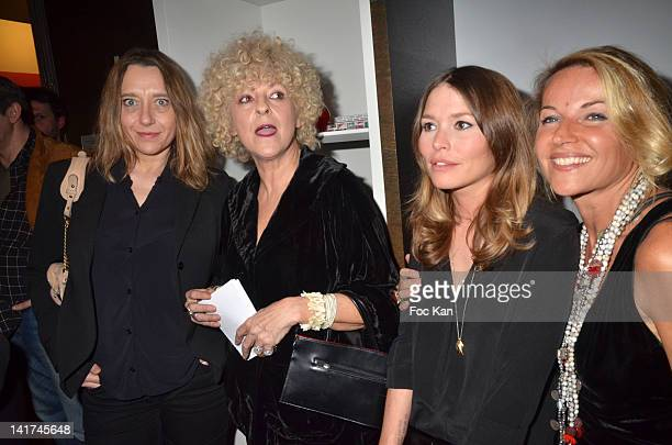 Writers Virginie Despentes Elisabeth Reynaud Virginie de Clausade and Olivia Zeltner attend the 'Prix Bel Ami 2012' Women Literary Awards at the...