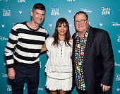 Writers Will McCormack and Rashida Jones and director John Lasseter of TOY STORY 4 took part today in 'Pixar and Walt Disney Animation Studios The...