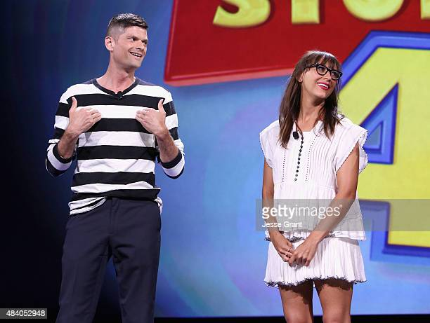 Writers Will McCormack and Rashida Jones of TOY STORY 4 took part today in 'Pixar and Walt Disney Animation Studios The Upcoming Films' presentation...
