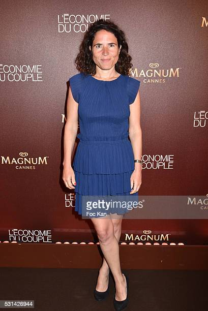 Writer/screenwriter Mazarine Pingeot attends the 'L'Economie du Couple' Party at Plage Magnum 69th Annual Cannes Film Festival on May 13 2016 in...