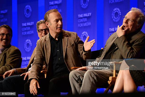 Writers/Executive Producers Vince Gilligan Peter Gould and actors Bob Odenkirk and Michael McKean attend The Paley Center For Media's 33rd Annual...