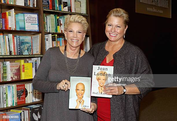 Writer/TV personality Joan Lunden and model Emme sign copies of her new book 'Had I Known' at Barnes Noble 82nd Street on October 1 2015 in New York...