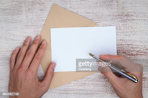 Writing a letter : Stock Photo