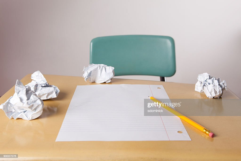 Writing Frustrations : Stock Photo