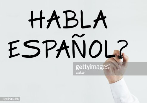 Writing 'Habla Espanol?'