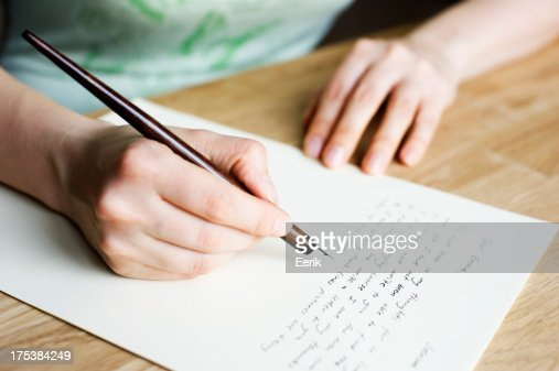 Writing letter : Stock Photo