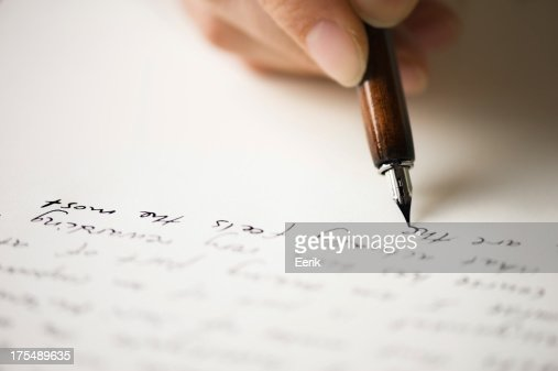 Writing letter to a friend : Stock Photo
