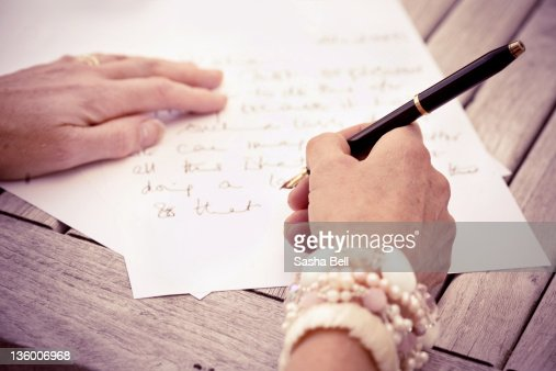 Writing letters : Stock Photo