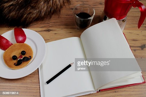 writing notebook : Stock Photo