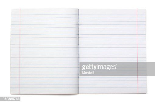 Writing Notebook With Lined Paper Photo – Lined Paper for Writing