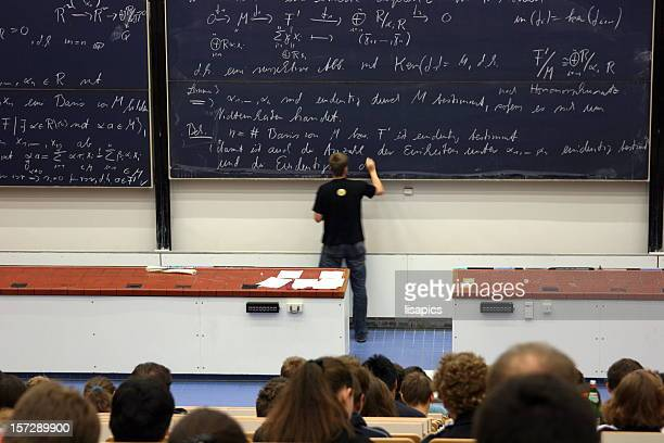 writing on the blackboard
