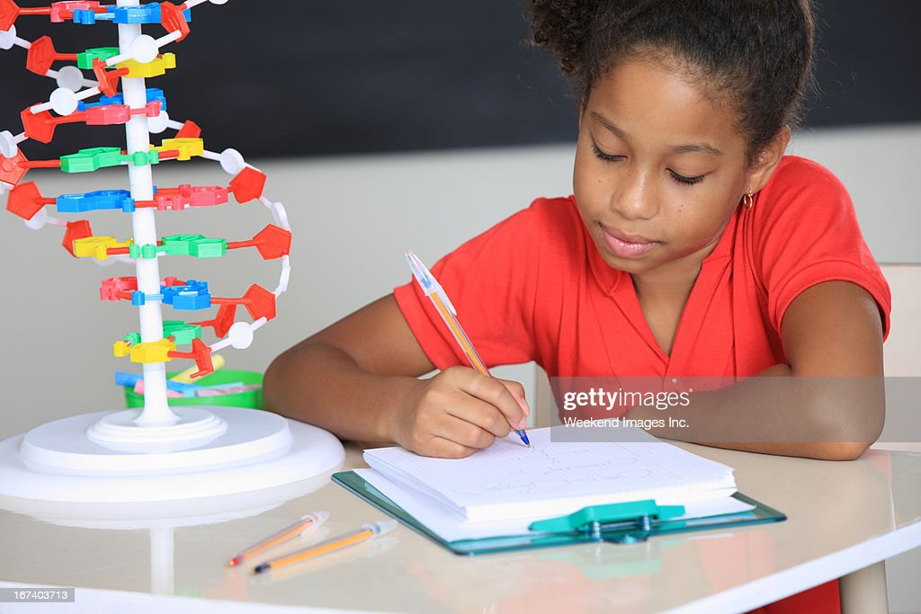 writing student : Stock Photo