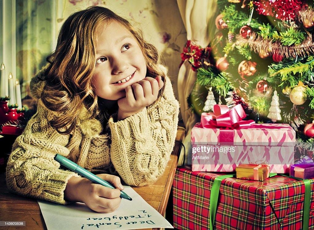 Writing to Santa : Stock Photo