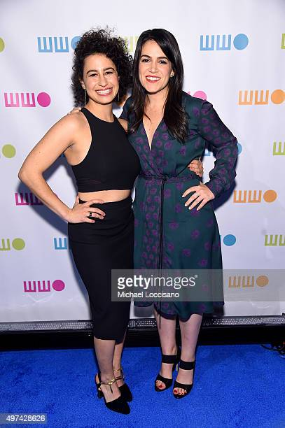 Writors and actresses Ilana Glazer and Abbi Jacobson attend Worldwide Orphans 11th Annual Gala at Cipriani on November 16 2015 in New York City
