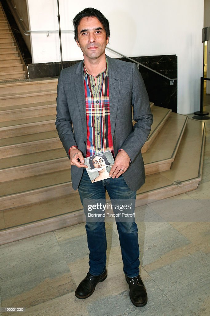 Writter Samuel Benchetrit attends the Aganovich show as part of the Paris Fashion Week Womenswear Spring/Summer 2015 on September 24, 2014 in Paris, France.
