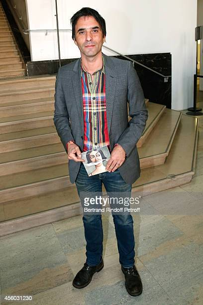 Writter Samuel Benchetrit attends the Aganovich show as part of the Paris Fashion Week Womenswear Spring/Summer 2015 on September 24 2014 in Paris...