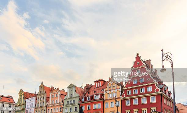 Wroclaw - Old Town Buildings with Golden Light