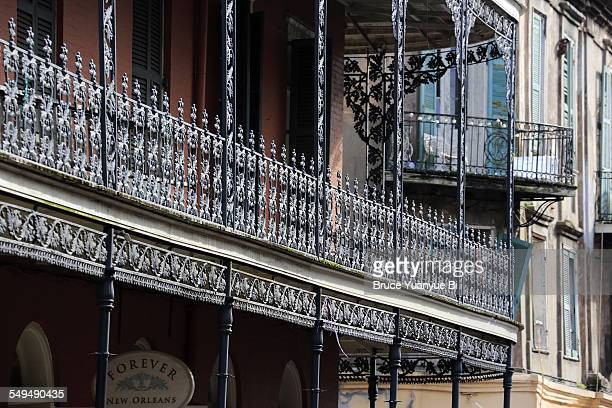Wrought iron balcony in French Quarter