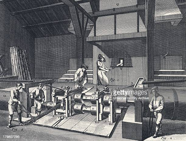 Rolling and slitting mill From Diderot ''Encyclopedie'' c1751