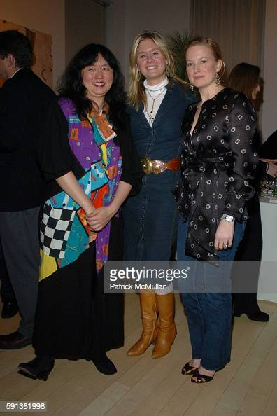 Wu Han Kate Mahon and Marie Samuels attend The Chamber Music Society of Lincoln Center Young Patrons Event with Music Art and More at The Caio...