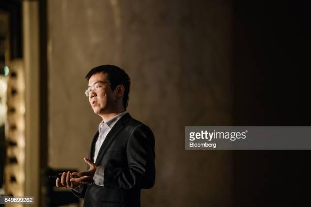 Wu Jihan cofounder of Bitmain Technologies Ltd speaks at the Shape the Future Blockchain Global Summit in Hong Kong China on Wednesday Sept 20 2017...