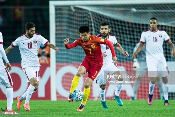 Wu Lei of China PR in action during the 2018 FIFA World Cup Russia Asian Qualifiers Final Qualification Round Group A match between China PR abnd...