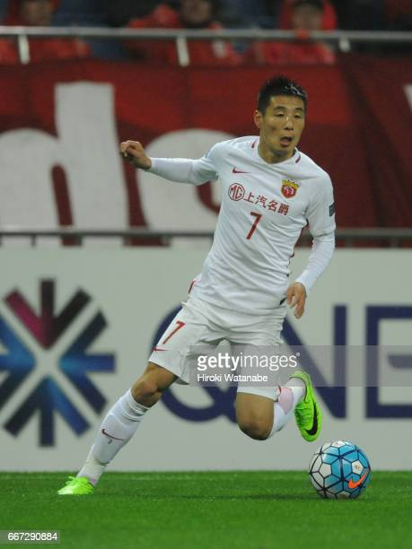Wu Lei of Shanghai SIPG FC in action during the AFC Champions League Group F match between Urawa Red Diamonds and Shanghai SIPG FC at Saitama Stadium...