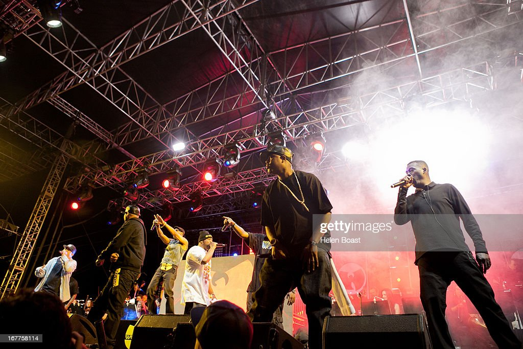 Wu Tang CLan perform on stage at 2013 Coachella Music Festival on April 21, 2013 in Indio, California.