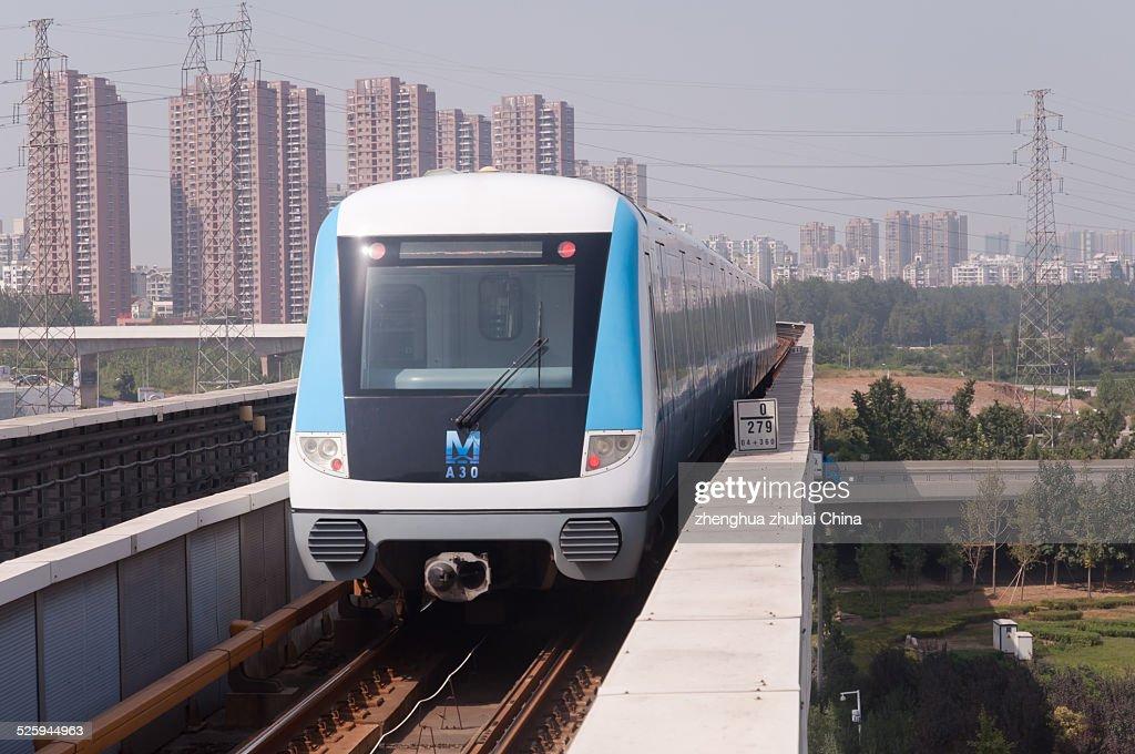 Wuhan metro line one train