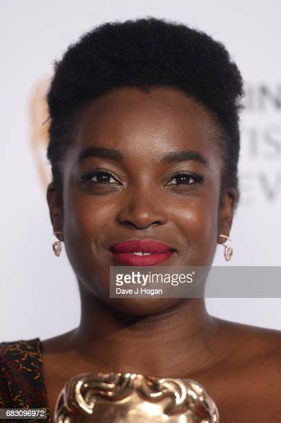 Wunmi Mosaku poses in the Winner's room at the Virgin TV BAFTA Television Awards at The Royal Festival Hall on May 14 2017 in London England