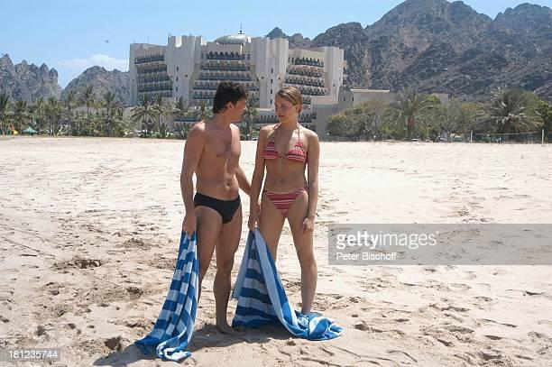 Pascal Breuer Tanja Wedhorn Dreharbeiten der ZDFReihe 'Traumschiff' Folge 49 'Oman' Episode 1 'Wunschkind' Muscat/Oman/Arabien Hotel 'Al Bustan...