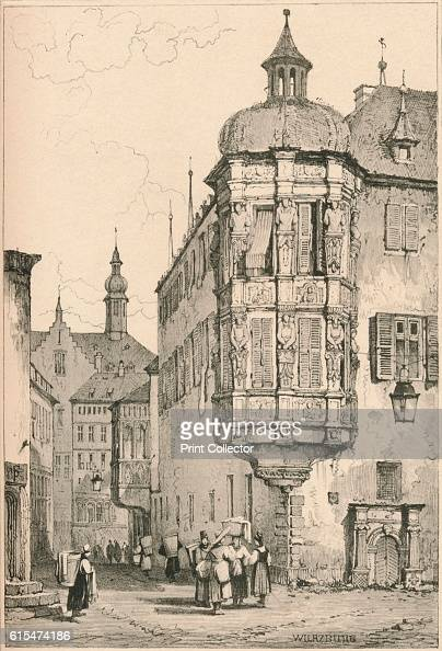 Wurzburg' c1820 Worzburg is a city in the region of Franconia northern Bavaria Germany Located on the Main River From Sketches by Samuel Prout edited...