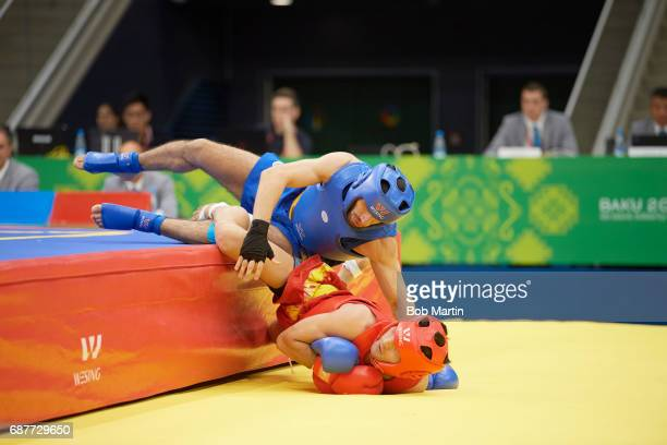 4th Islamic Solidarity Games Azerbaijan Ruslan Piraliyev in action falling of the mat vs Pakistan Abdullah Abdullah during Men's 60 kg Quarterfinals...