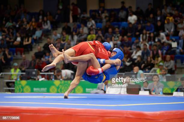 4th Islamic Solidarity Games Lebanon Francois El Rassi in action vs Indonesia Puja Riyaya during Men's 70 kg Quarterfinals at Baku Sports Hall Baku...