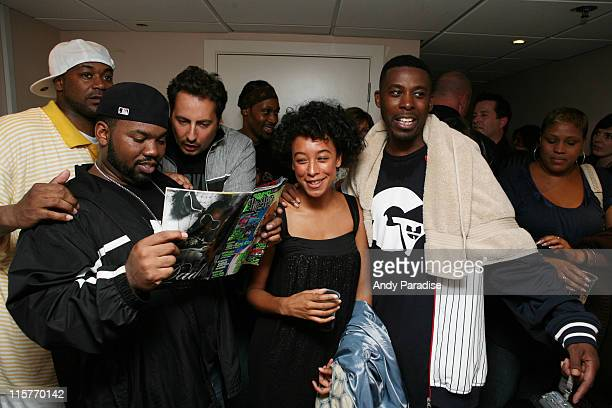 WuTang Clan and Corinne Bailey Rae backstage at a concert on July 5 2007 at Amike in London