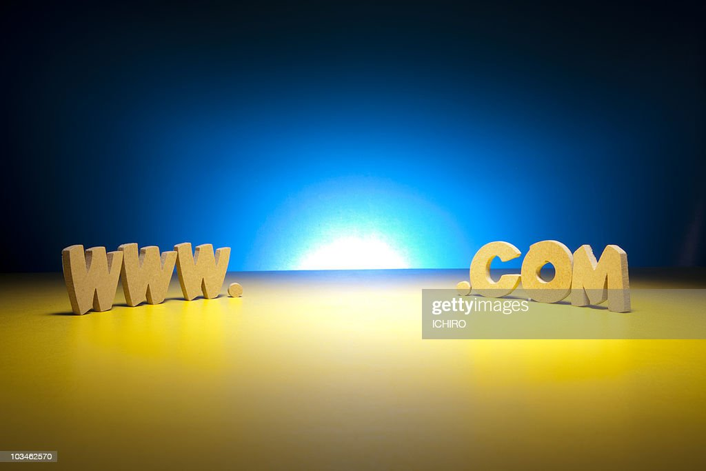 'WWW.'and'.COM' sign. : Stock Photo