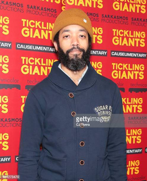 Wyatt Cenac attends 'Tickling Giants' New York premiere at IFC Center on March 16 2017 in New York City