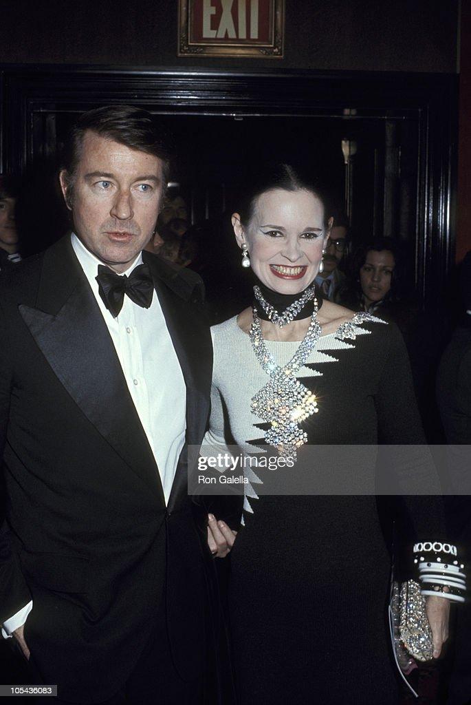 Wyatt Cooper and Gloria Vanderbilt during Premiere at Ziegfeld Theatre January 1 1968 at Ziegfeld Theatre in New York City New York United States