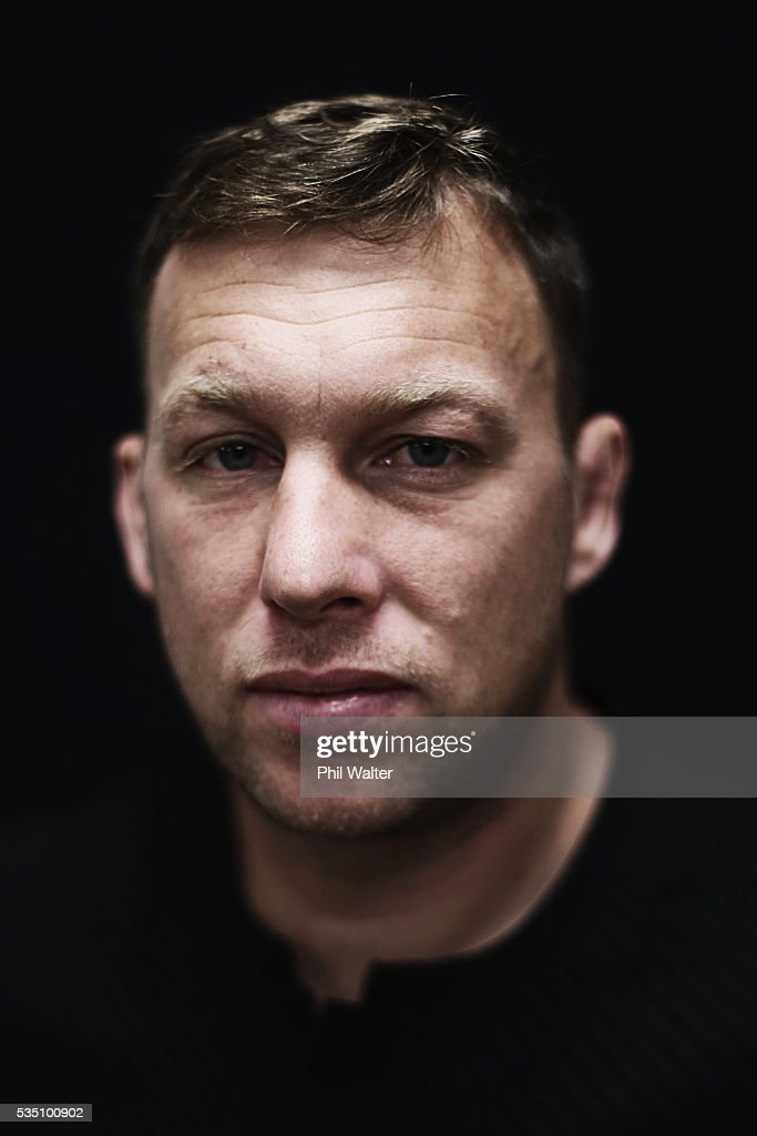 Wyatt Crockett of the All Blacks poses for a portrait during a New Zealand All Black portrait session on May 29, 2016 in Auckland, New Zealand.