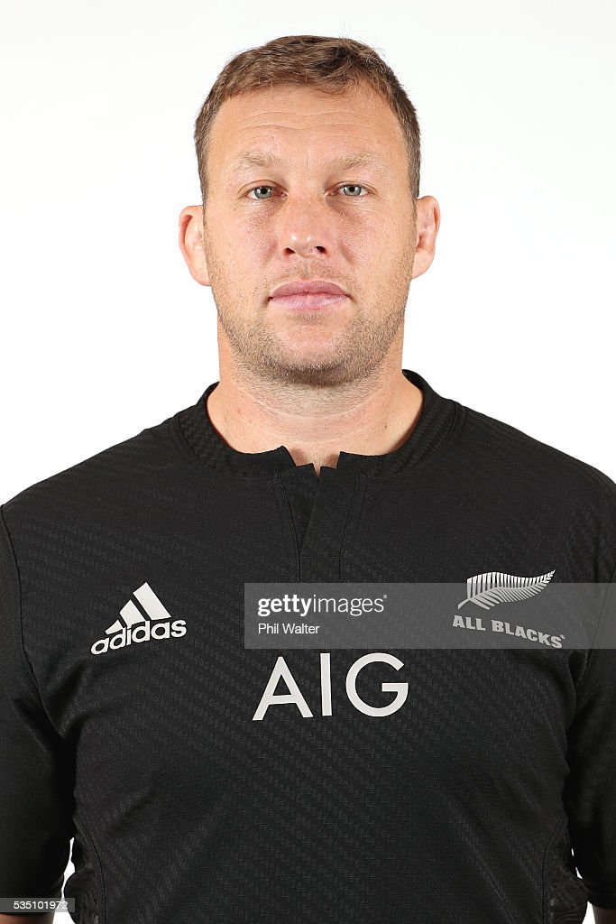 <a gi-track='captionPersonalityLinkClicked' href=/galleries/search?phrase=Wyatt+Crockett&family=editorial&specificpeople=699696 ng-click='$event.stopPropagation()'>Wyatt Crockett</a> of the All Blacks poses for a portrait during a New Zealand All Black portrait session on May 29, 2016 in Auckland, New Zealand.