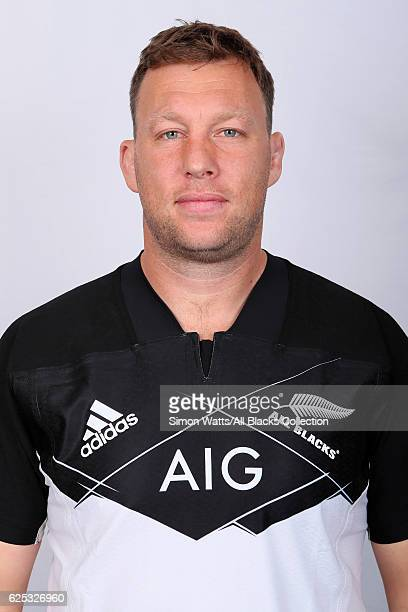 Wyatt Crockett poses during the All Blacks End of Year Tour 2016 Headshots Session at Auckland International Airport Novotel on October 28 2016 in...