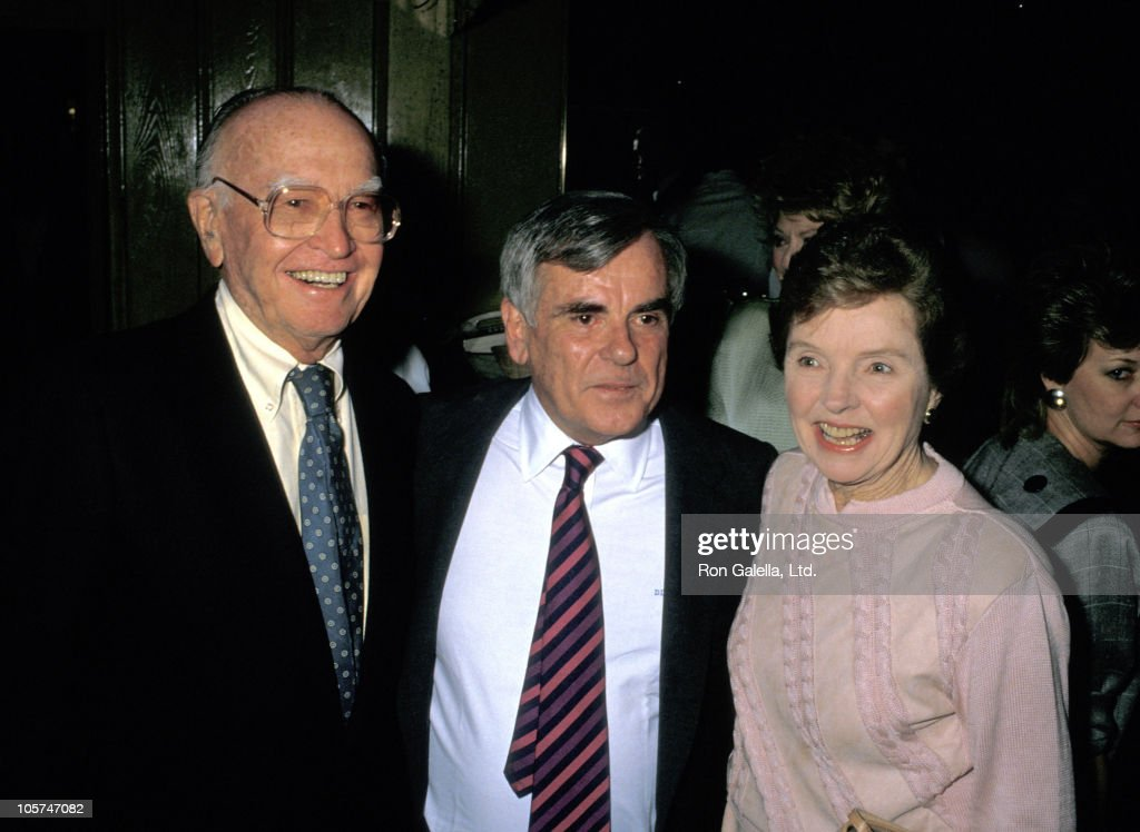 Wyatt's husband, Dominick Dunn and Jane Wyatt during Dominck Dunne Celebratory Book Party at Chasen's Restaurant - May 26, 1988 at Chasen's Restaurant in Beverly Hills, California, United States.