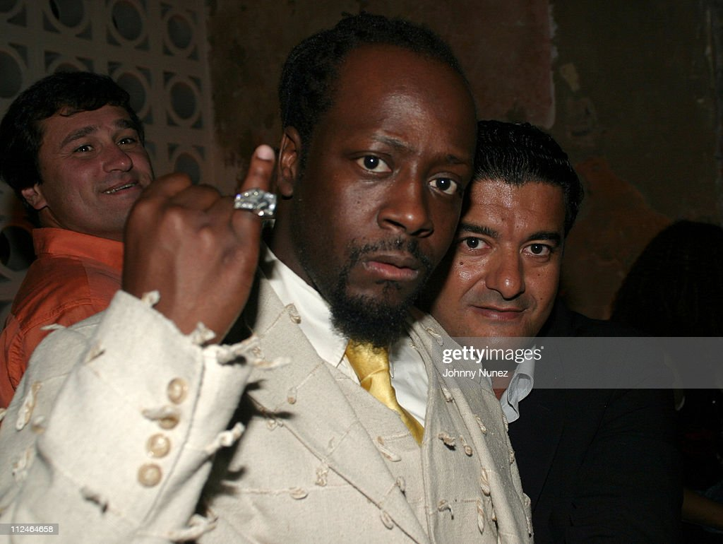 <a gi-track='captionPersonalityLinkClicked' href=/galleries/search?phrase=Wyclef+Jean&family=editorial&specificpeople=171115 ng-click='$event.stopPropagation()'>Wyclef Jean</a> and <a gi-track='captionPersonalityLinkClicked' href=/galleries/search?phrase=Jacob+Arabo&family=editorial&specificpeople=830432 ng-click='$event.stopPropagation()'>Jacob Arabo</a> during Rosa Cha After Party Hosted By Naomi Campbell at PM Lounge in New York City, New York, United States.