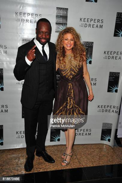 Wyclef Jean and Miri Ben Ari attend THE 12th ANNUAL KEEPERS OF THE DREAM AWARDS at Sheraton NY Hotel and Towers NYC on April 15 2010