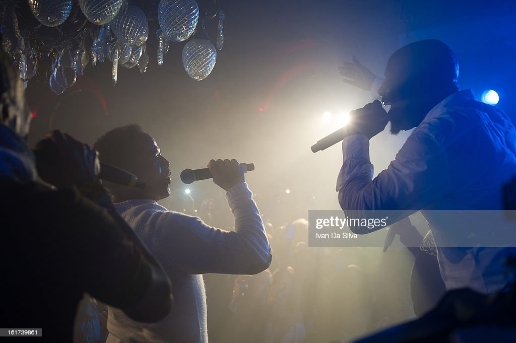 Wyclef Jean and The Jacksons performs at Cafe Opera on February 14, 2013 in Stockholm, Sweden.