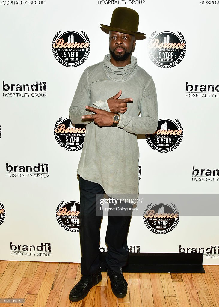 Wyclef Jean attends the Bounce Sporting Club Celebrates Its 5th Anniversary at Bounce Sporting Club on September 20, 2016 in New York City.